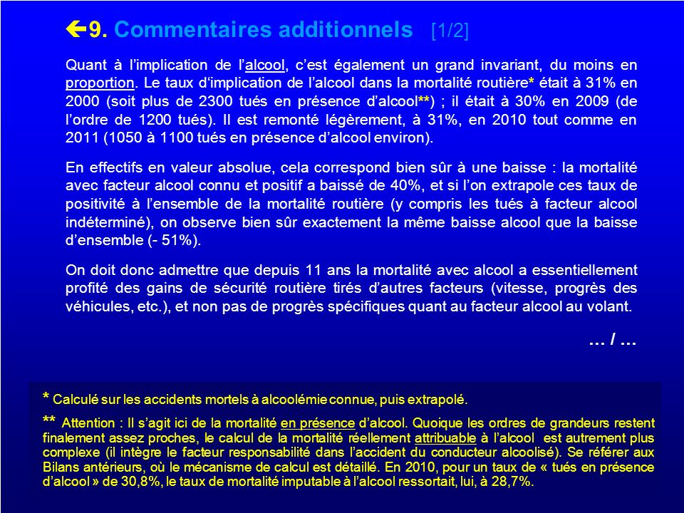 9. Commentaires additionnels [1/2]